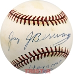 Jay Berwanger Autographed National League Baseball Inscribed