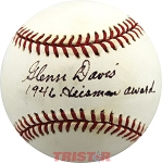 Glenn Davis Autographed National League Baseball Inscribed