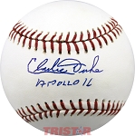 Charles Duke Autographed Major League Baseball Inscribed Apollo 16