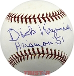 Dick Kazmaier Autographed Major League Baseball Inscribed Heisman 51