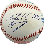 Peyton Manning Autographed American League Baseball Inscribed 16, 1997