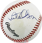 Lute Olson Autographed National League Baseball