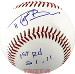 Tyler Beede Autographed Official Southern League Baseball Inscribed 1st RD 21,11
