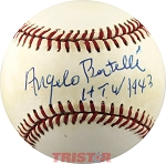 Angelo Bertelli Autographed Official NL Baseball Inscribed HTW 1943