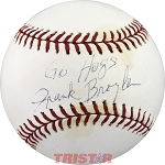 Coach Frank Broyles Autographed Official ML Baseball Inscribed Go Hogs