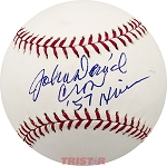 John David Crow Autographed Official NL Baseball Inscribed 57 Heisman