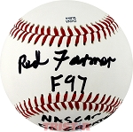 Red Farmer Autographed Southern League Baseball F97 NASCAR 50 Greatest 752 Wins