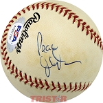 Jesse Jackson Autographed Official National League Baseball Inscribed Peace