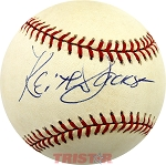 Keith Jackson Autographed Official American League Baseball