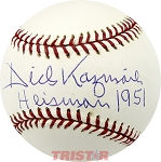 Dick Kazmaier Autographed Official Major League Baseball Inscribed Heisman 1951
