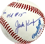 Jack Kemp Autographed Official Baseball Inscribed To Chuck From Old #15