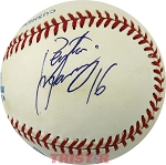 Peyton Manning Autographed American League Baseball Inscribed 16