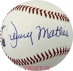Johnny Mathis Autographed Official Major League Baseball