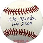 C.M. Newton Autographed Rawlings Official League OLB1 Baseball Inscribed HOF 2000