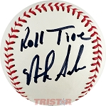 Nick Saban Autographed Official Major League Baseball Inscribed Roll Tide