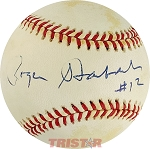 Roger Staubach Autographed Official National League Baseball Inscribed #12