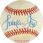 Thurman Thomas Autographed Official American League Baseball Inscribed 34
