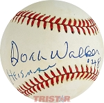 Doak Walker Autographed Official American League Baseball Inscribed Heisman '48