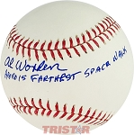 Alfred Worden Autographed Official ML Baseball Inscribed Apollo 15 Farthest Space Walk
