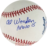 Alfred Worden Autographed Official ML Baseball Inscribed Apollo 15