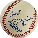 Ernest Borgnine Autographed Official American League Baseball