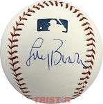 Coach Larry Brown Autographed Official Major League Baseball
