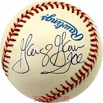 George Gervin Autographed Official American League Baseball