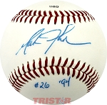 Mark Johnson Autographed Southern League Baseball Inscribed #26, '94