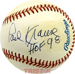 Paul Krause Autographed Official American League Baseball Inscribed HOF 98