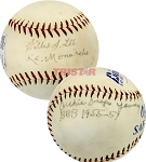 Willie Lee & Archie Young Autographed Baseball Inscribed BBB 1955-57