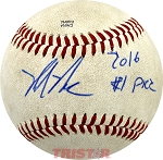 Mickey Moniak Autographed Southern League Baseball Inscribed 2016 #1 Pick