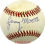 Lenny Moore Autographed Official American League Baseball