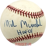 Mike Munchak Autographed Official Major League Baseball Inscribed HOF 01