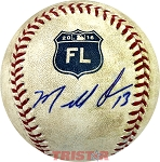 Marcell Ozuna Autographed Spring Training Baseball Inscribed 13