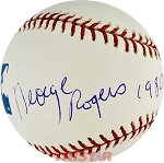 George Rogers Autographed Official Major League Baseball Inscribed 1980 Heisman