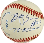 Billy Sims Autographed Official American League Baseball Inscribed 78 Heisman