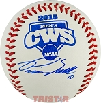 Pavin Smith Autographed Official 2015 College World Series Baseball
