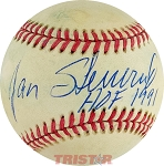 Jan Stenerud Autographed Official American League Baseball Inscribed HOF 1991