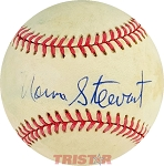 Norm Stewart Autographed Official National League Baseball
