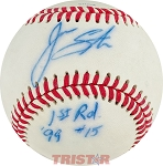 Jason Stumm Autographed Rawlings Official League Baseball Inscribed 1st Rd 99 #15