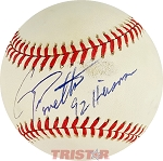 Gino Toretta Autographed Official American League Baseball Inscribed 92 Heisman