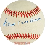 Steve Van Buren Autographed Official American League Baseball
