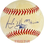 Andre Ware Autographed Official American League Baseball Inscribed 1989 Heisman