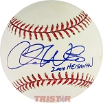 Chris Weinke Autographed Official Major League Baseball Inscribed 2000 Heisman