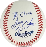 George Wendt Autgoraphed Official Major League Baseball Inscribed To Chuck