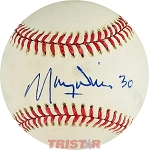 Maury Wills Autographed Official National League Baseball