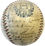 1926 NY Yankees Team Autographed Official AL Baseball with Gehrig, Shocker & More