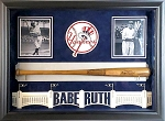 Babe Ruth Rare Autographed Signature Model Hillerich & Bradsby Bat Framed