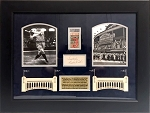 Babe Ruth Cut Signature & 'Called Shot' 1932 World Series Game 3 Ticket Framed