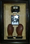 Muhammed Ali (Cassius Clay) Amateur Fight Used Headgear & Training Gloves